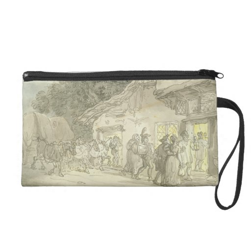 The Waggoner's Rest, c.1800-05 (pen & ink and w/c Wristlet Purse