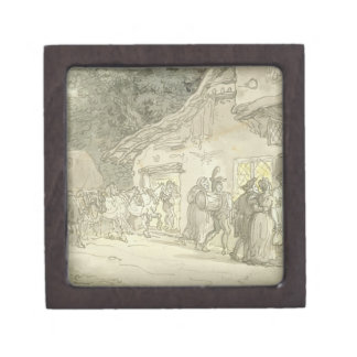 The Waggoner's Rest, c.1800-05 (pen & ink and w/c Keepsake Box