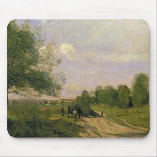 The Wagon, Souvenir of Saintry, 1874 Mouse Pad