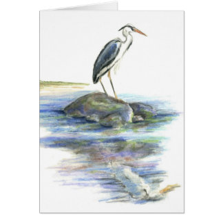 The Wait - Great Blue Heron Card