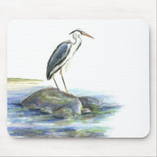 The Wait - Great Blue Heron Mouse Pad