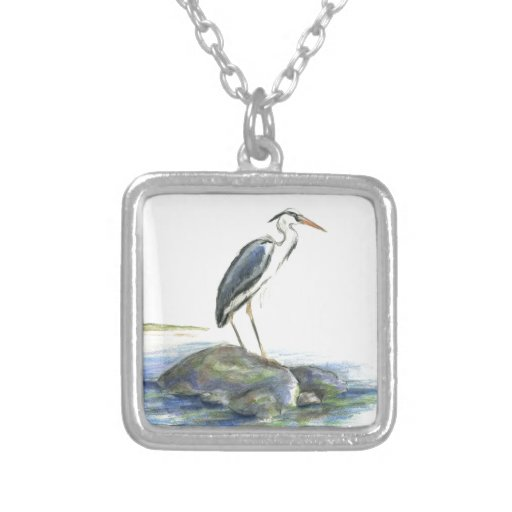 The Wait - Great Blue Heron Custom Necklace