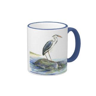 The Wait - Great Blue Heron Ringer Mug