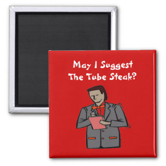 The Waiter 2 Inch Square Magnet