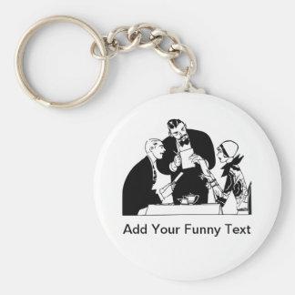 The Waiter - Restaurant Humor Basic Round Button Keychain