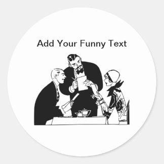 The Waiter - Restaurant Humor Classic Round Sticker