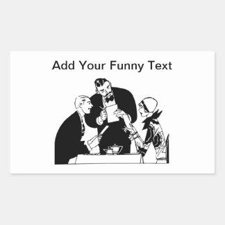 The Waiter - Restaurant Humor Rectangular Sticker
