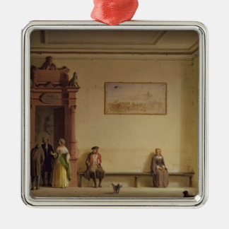 The Waiting Room, 1857 Metal Ornament