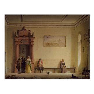 The Waiting Room, 1857 Postcard