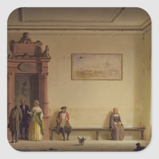 The Waiting Room, 1857 Square Sticker