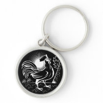The Wake Up Rooster Keychain