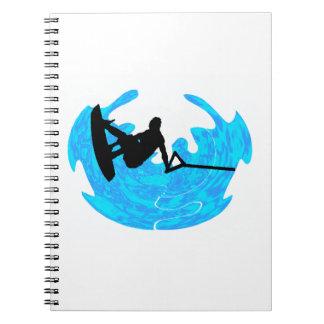 THE WAKEBOARD GROOVEzzzzzzzzz Spiral Notebook