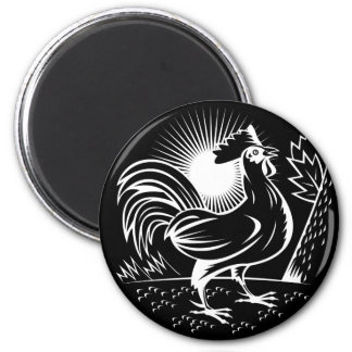 The Wakeup Rooster 2 Inch Round Magnet