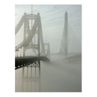 The Waldo Hancock and Penobscot Narrows Bridges Postcard