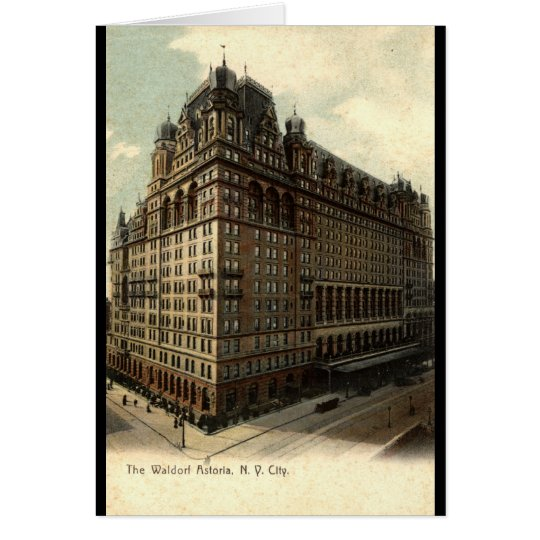 The Waldorf Astoria, New York City 1908 Vintage Card
