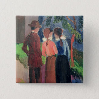 The Walk, 1914 Pinback Button
