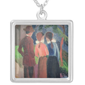 The Walk, 1914 Silver Plated Necklace