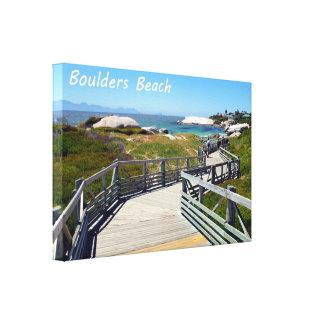 The walk down toward Boulders Beach near Cape Town Canvas Print
