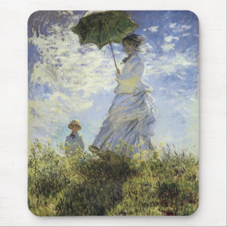 The Walk, Lady with a Parasol Mouse Pad