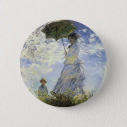 The Walk, Lady with a Parasol Pinback Button