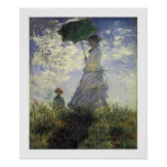 The Walk, Lady with a Parasol Posters