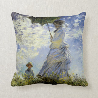 The Walk, Lady with a Parasol Throw Pillow