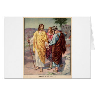 The walk to emmaus greeting card