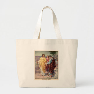 The walk to emmaus large tote bag