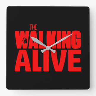 The Walking Alive Square Wall Clock