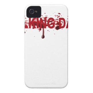 The WALKING DAD (on dark) Father's Day Zombie T-sh Case-Mate iPhone 4 Cases