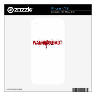The WALKING DAD (on dark) Father's Day Zombie T-sh iPhone 4 Skin
