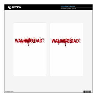 The WALKING DAD (on dark) Father's Day Zombie T-sh Kindle Fire Decals
