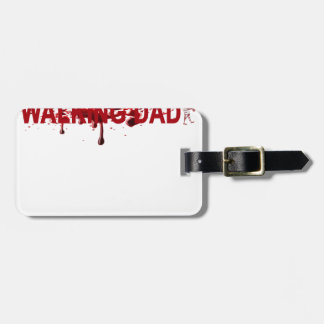 The WALKING DAD (on dark) Father's Day Zombie T-sh Luggage Tag