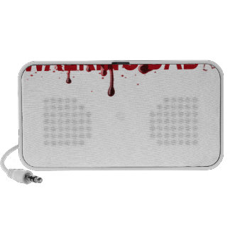 The WALKING DAD (on dark) Father's Day Zombie T-sh Portable Speaker