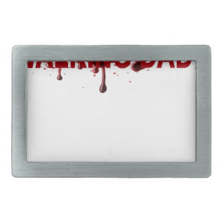 The WALKING DAD (on dark) Father's Day Zombie T-sh Rectangular Belt Buckle