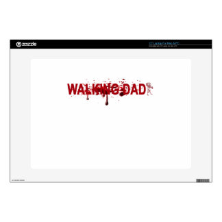 "The WALKING DAD (on dark) Father's Day Zombie T-sh Skin For 15"" Laptop"