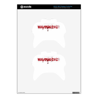 The WALKING DAD (on dark) Father's Day Zombie T-sh Xbox 360 Controller Skins
