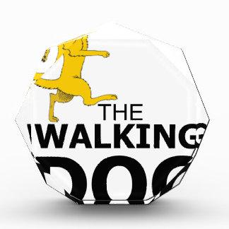 The walking dog acrylic award