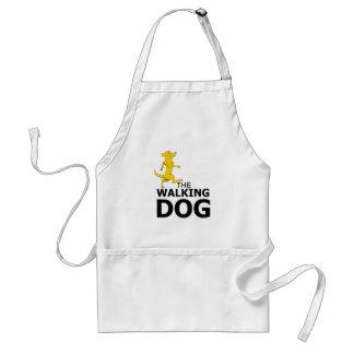 The walking dog adult apron