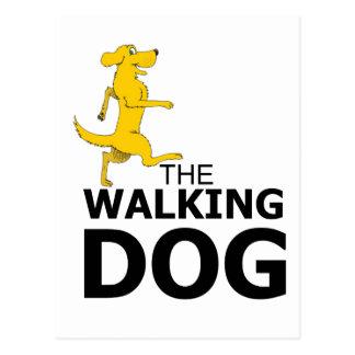 The walking dog postcard