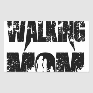 The Walking Mom Rectangular Sticker