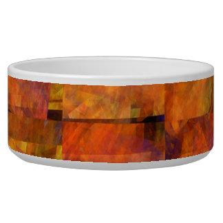 The Wall Abstract Art Dog Bowl