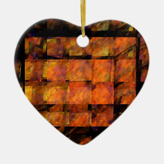 The Wall Abstract Art Heart Ornament