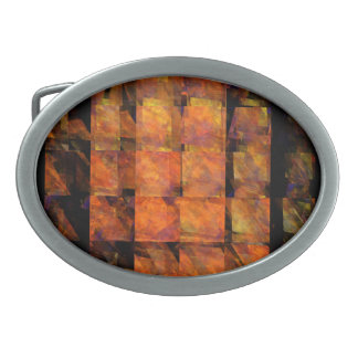 The Wall Abstract Art Oval Belt Buckle