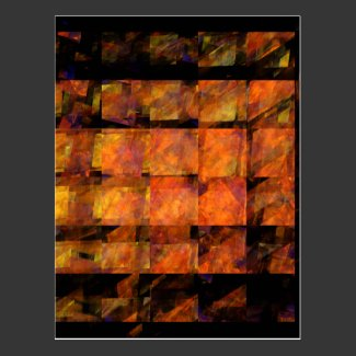 The Wall Abstract Art Postcard