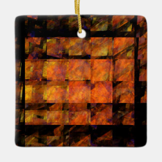 The Wall Abstract Art Square Ornament