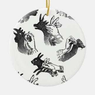 The Wall Hand Shadows Ceramic Ornament