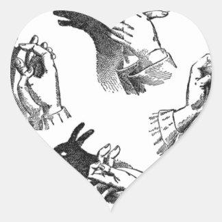 The Wall Hand Shadows Heart Sticker
