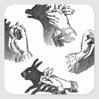 The Wall Hand Shadows Square Sticker