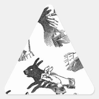 The Wall Hand Shadows Triangle Sticker